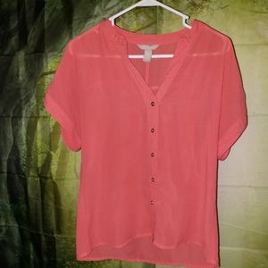 Banana Republic Womens Short Sleeve Blouse